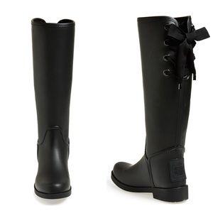 Coach Black Tristee Rain Boots (NWOT)